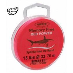 Nylon sans mémoire POWERLINE rouge