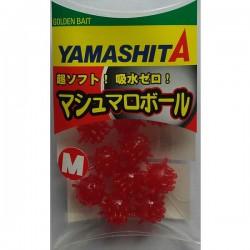 Perles YAMASHITA Marsh Mallow Rouge (10 pièces)