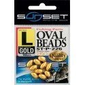 Perles dures SUNSET Oval Beads GOLD