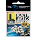 Perles dures SUNSET Oval Beads SILVER