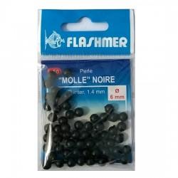 Perles molles noires FLASHMER (50 pièces)