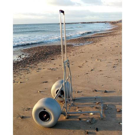 Chariot de surfcasting ALU avec roues basse pression