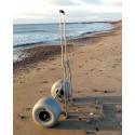 Chariot de surfcasting avec roues basse pression