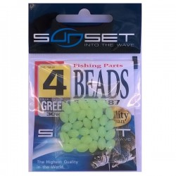 Perles dures SUNSET Beads ST-P-187 (vert phospho)