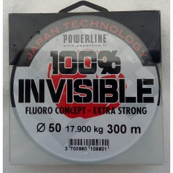 Fluoro 100% INVISIBLE Powerline (150m)