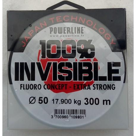 Fluoro 100% INVISIBLE Powerline (150m)