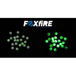 Perles FOXFIRE - Vert phospho et Transparent pailleté