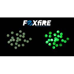 Perles FOXFIRE - Blanc phospho et Vert pailleté