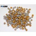 Perles FOXFIRE - Argent et Or pailleté