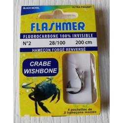 Hameçons Montés CRABE Wishbone FLASHMER