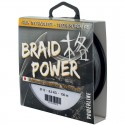Tresse POWERLINE (1000m) Braid Power 8X - Gris