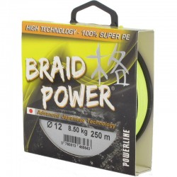 Tresse POWERLINE (1000m) Braid Power 8X - Jaune