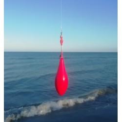 Plomb missile Rouge avec rolling sur la tige