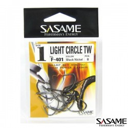 Hameçons SASAME Light Circle Black Nickel