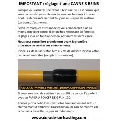 Réglage d'une canne 3 brins de surfcasting (notice)